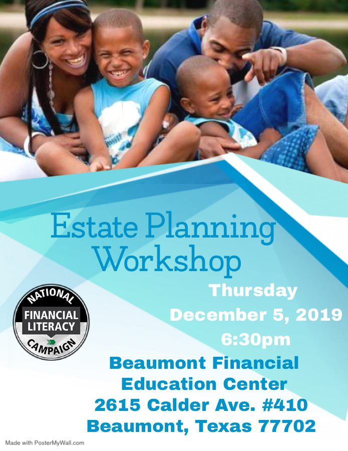 estate planning Beaumont, financial workshop Southeast Texas, debt relief Golden Triangle,
