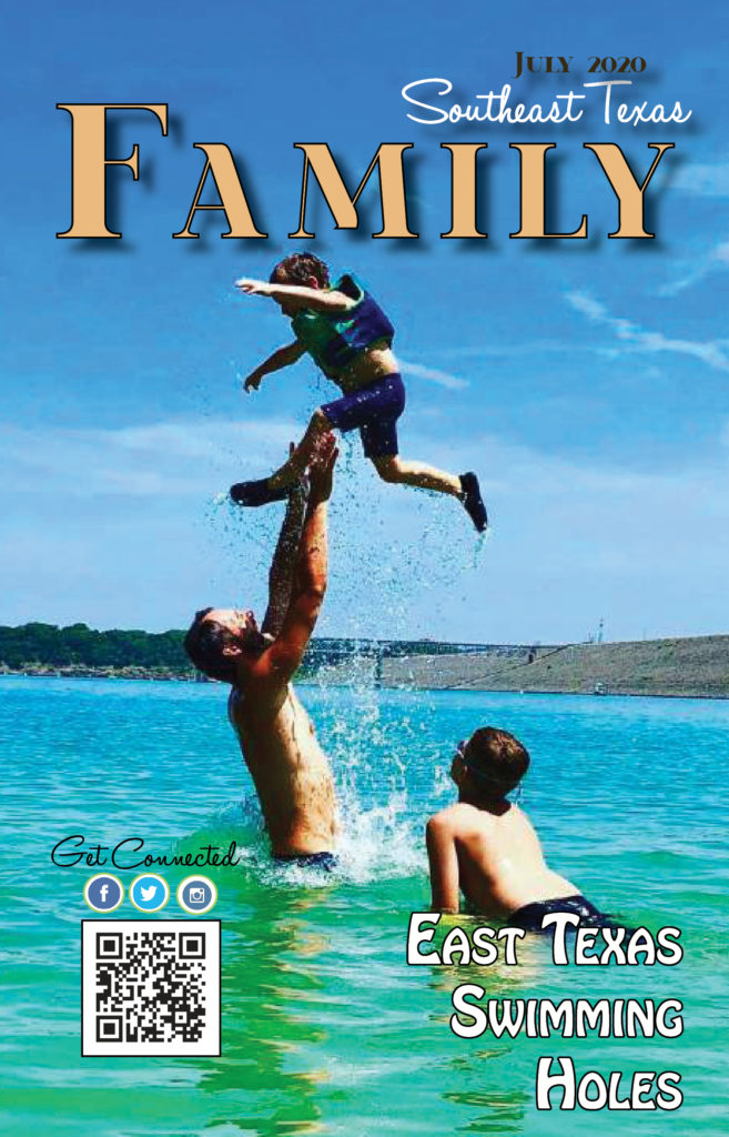 SETX Family Magazine, swimming holes East Texas, activities Golden Triangle, SETX family events, camping Lufkin